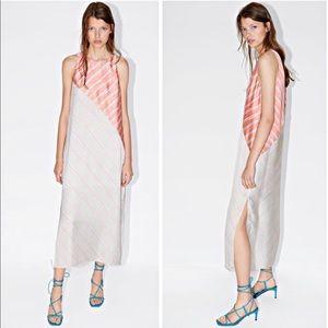 Zara Asymmetrical Silky Dress size Small